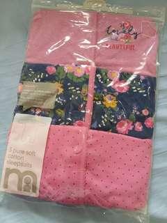 Mothercare sleepsuits 3 pcs