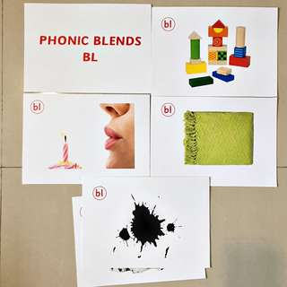 Phonics Blends Flash cards / Shichida Heguru Right Brain Training Flashcards