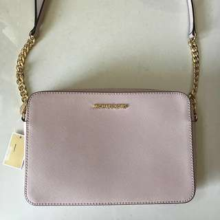 Authentic Michael Kors Soft Pink Large East West Crossbody