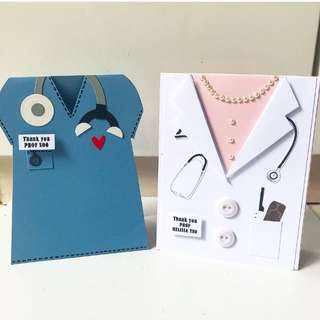 Doc / nurse shape handmade card