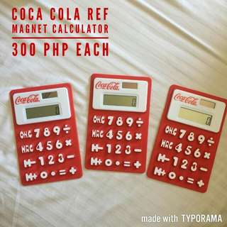 mollie&mommy cocacola memorabilia battery operated/solar powered calculator