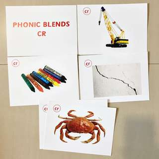 Phonic Blends Flashcards / Shichida / Heguru Right Brain Training Flashcards