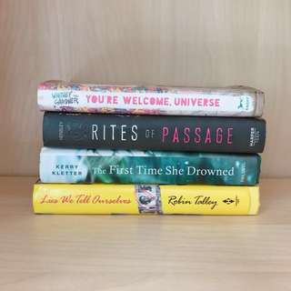 YOUNG ADULT HARDBACK CLEARANCE.