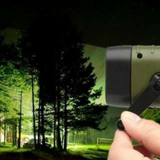 Flashlight Solar and Hand Crank Rechargeable Cool Child Gift Great Camp Equipment