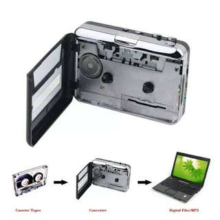 Cassette Tape Converter Cassette to MP3 Audio capture Music Player Tape to PC Portable Cassette-to-MP3 Converter