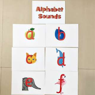 Alphabet Sounds 10.80Flash cards / Shichida Heguru Right Brain Training Flashcards