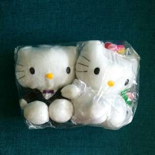 Hello Kitty - bride & groom soft toy