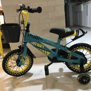 12 inch 4 wheels bike