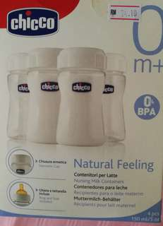 Chicco milk storage bottle