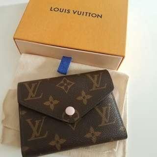 Louis vuitton lv small wallet 豆粉 monogram rose ballerine