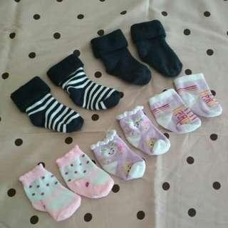 5psg Kaos Kaki Bayi Newborn
