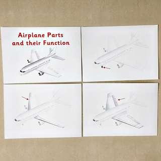 Airplane Parts flashcards / Shichida Heguru Right Brain Training Flashcards