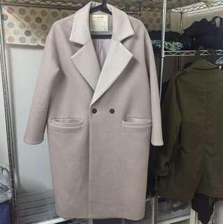 🚚 韓國購入粉紫色大衣