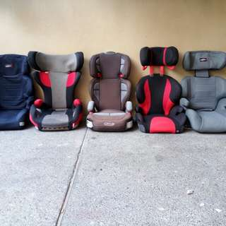 Aprica, Graco, Combi and ailebebe car seat