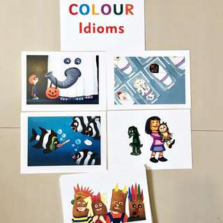 Colour Idioms Flash cards / Shichida Heguru Right Brain Training Flashcards