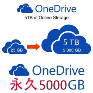 OneDrive 永久儲存雲端空間 1TB 5TB Dropbox Google Drive