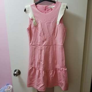 Pink one piece ruffle dress bread n butter