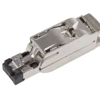 Siemens FastConnect, Cat5 4 Way Straight Cable Mount Shielded RJ45 Connector Male → 6GK1901-1BB10-2AA0