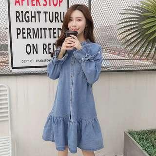 😎PO: Denim dress @ $38 (PC: A01981)