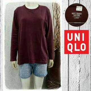 Inner uniqlo maroon / 3 pcs 100rb