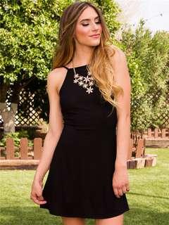 AO/KKC071655 - Sexy Fashion European Backless Stretchable Straps Cotton Dress