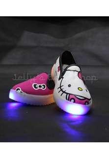 Hello Kitty Kids Slip On Lighting Shoes