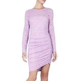 BCBG MAXAZRIA Alesandra Long Sleeve Side Zipper Dress