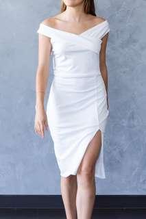 (BRAND NEW) Heidi off-shoulder midi dress