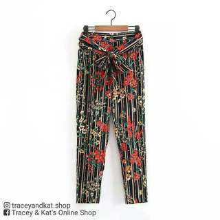 Mango Inspired Floral Pants