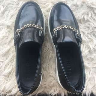 Celine chain platform loafers