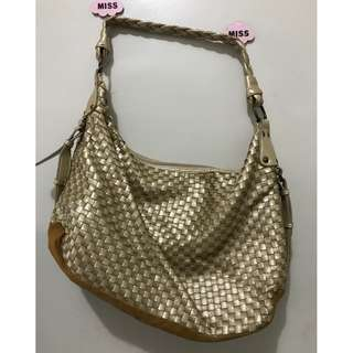 Gold wooven bag