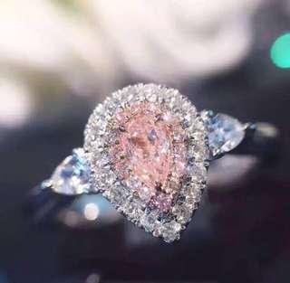 Light pink 100% Diamond Ring