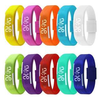 Touch screen magnetic sport LED watch