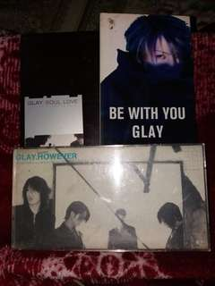 Lot of 3: Glay singles - Soul Love / Be With You / However