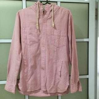 Pink Hooded Shirt