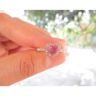 .49 Carat Diamond .80 Carat Natural Pink Sapphire Rose Gold Ring 14k