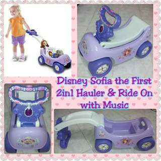 Disney Sofia the First 2in1 Happy Hauler Ride On with Music