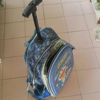 Doraemon school wheels bag