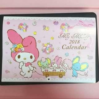 My Melody 2018 Calendar