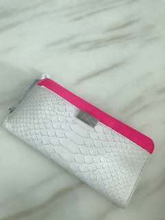 DvF python embossed lamb skin leather wallet