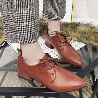 Ladies Korean Style Lace Up Sneakers Brogues Shoe