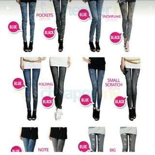 Jeans Printing Legging