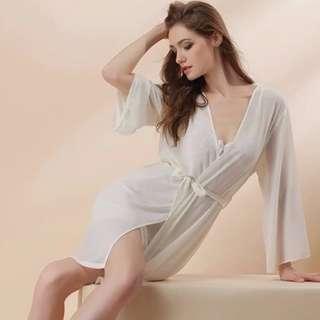 sexy two pieces set  chiffon sleepwear / sleep dress / sleepdress with robe / lingerie / pyjamas