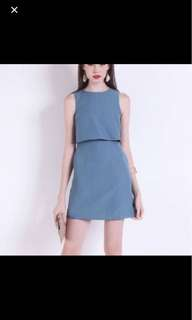 Mavelle Cropped Top Work Dress