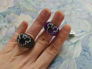 迪士尼 米奇頭指環 (紫色)