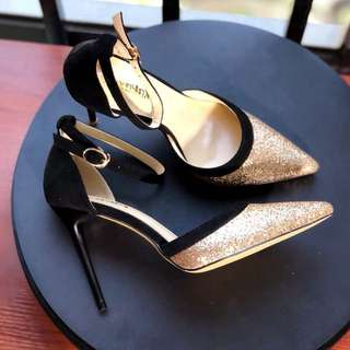 Size 34-39 Glitter Pointed Toes High Heels