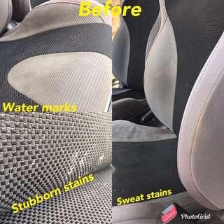 Subaru fabric seats clean