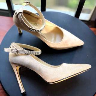 Size 34-39 Diamond Rhinestone Suede Pointed Toes High Heels