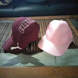 SNAPBACK REDDISH PUMA AND PINKISH ( HATS, CAPS, TOPI )