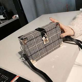 Ladies Korean Style Box Crossbody Sling Bag